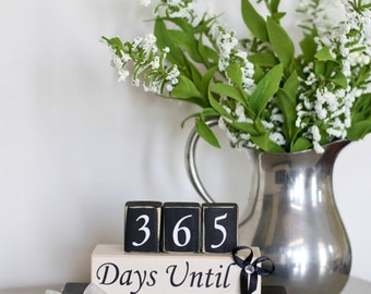 Custom Wedding Countdown. Countdown to Wedding. Countdown to Our Wedding. Wedding Gift. Custom Blocks. Countdown Blocks.