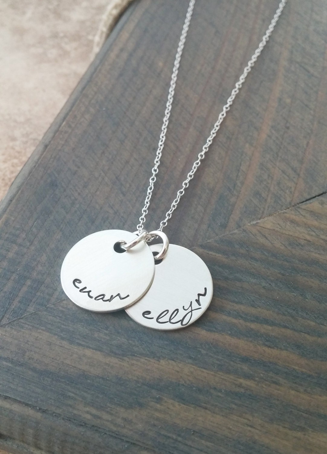 Personalized Name Necklace // Hand Stamped Jewelry