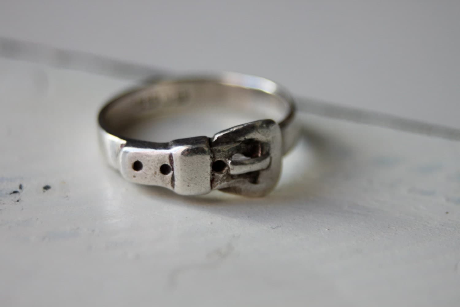 vintage sterling silver buckle ring belt by bellasaradesigns