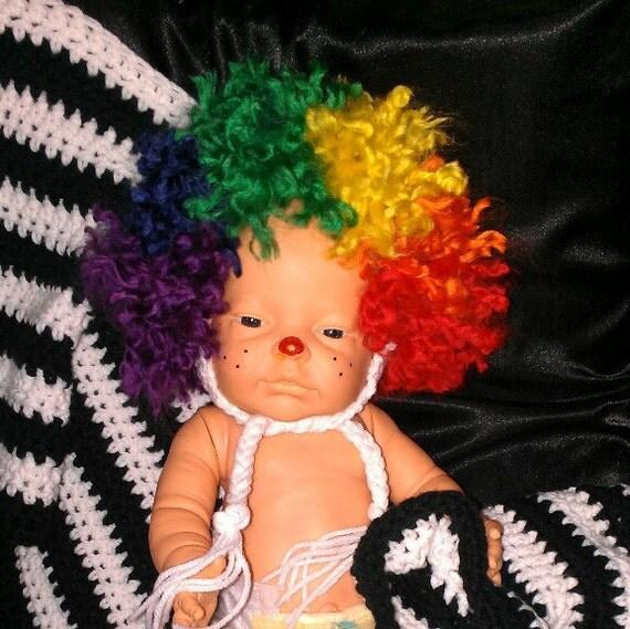 Crocheted Clown Hat