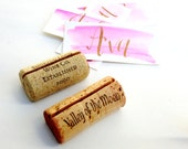 Vintage Wine Cork Place Card Holder, Wine Theme Wedding, Name Card Holder, Winery Wedding, Vineyard Wedding, Wine Tasting, Wine Party Decor