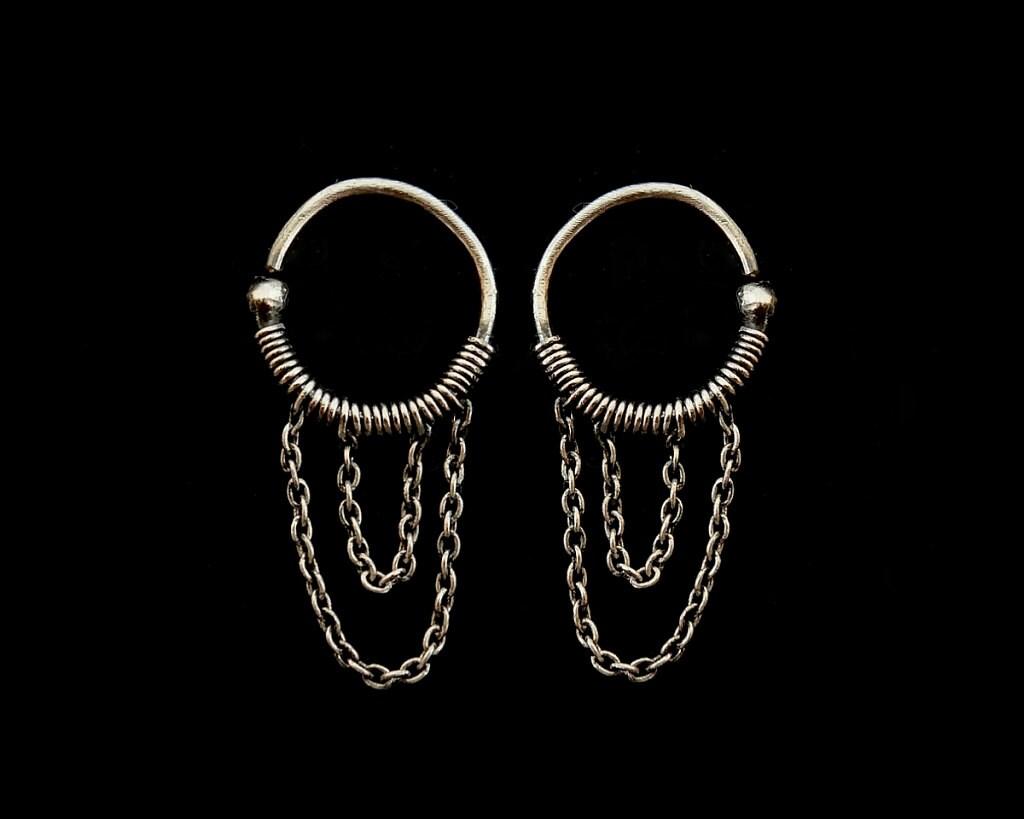 Cartilage Chain Earring Etsy Cartilage Chain Earrings