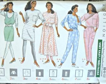 Butterick 4471, Misses Dress, Top, Jumper, Skirt, Pants and Leggings Pattern, Sizes 6, 8, 10,  Vintage, 1989