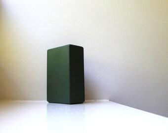 Modernist Vase Matte Green Hyalyn 228 Porcelain 50's
