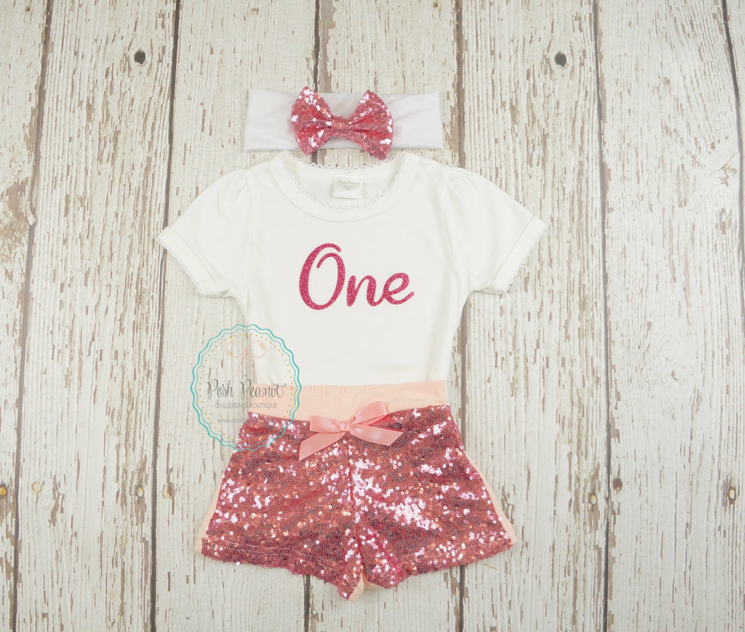 Pink Birthday Outfit Girls First Birthday Outfit Pink Baby
