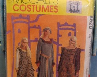 McCalls Costumes Pattern 8826