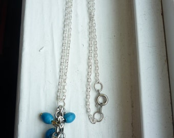 Teal and Turquoise Charm Necklace