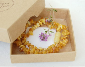 Baltic amber teething necklace bone amber - baby necklace - baby teething necklace - natural teething amber - baltic amber necklace