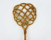 Vintage Woven Rattan Rug Beater Big Size