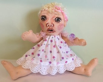 ADORABLE BABY DOLL Handmade Handpainted