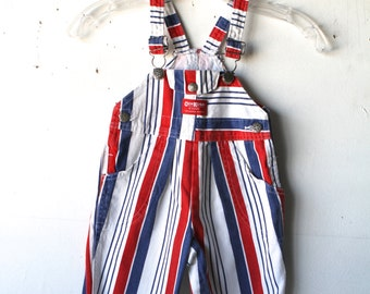 AMERICAN vintage red, white & BLUE overalls