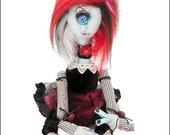 Gothic Hand Made Doll Weird Frankenstein Doll In Coffin Gift Box - Chaos