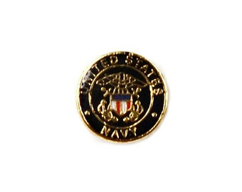 Navy Lapel Pin - Tie Tack - Valentine's Gift - Handmade - Gift Box Included