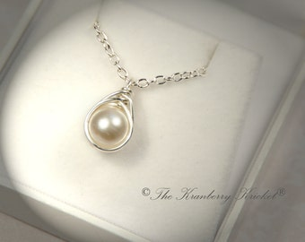 Pearl Necklace, Ivory Pearl Necklace, Off White Pearl Necklace