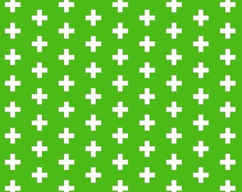 Fitted Crib Sheet Kelly Green Plus Sign- ModFox Exclusive- Plus Sign Crib Sheet-Green Crib Sheet-Green Baby Bedding-Kelly Green Crib Bedding