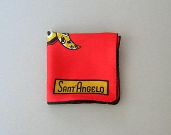 Vintage Sant' Angelo Silk Scarf Mod Bird