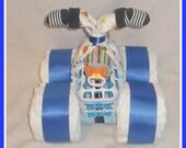 Sale! Diaper 4-Wheeler-Beautiful Baby Shower Gift