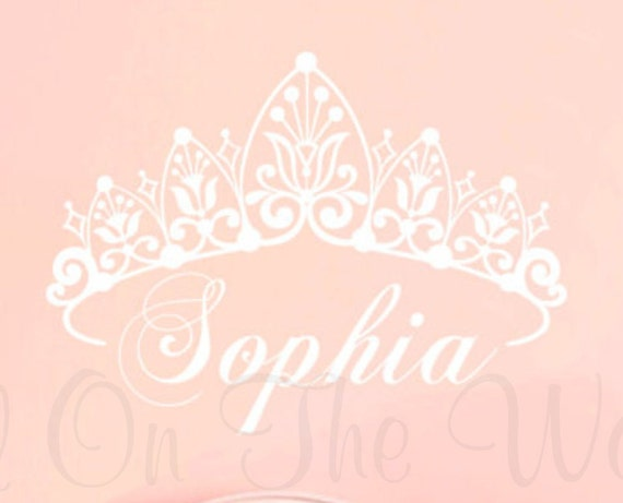 Princess Wall Decal Baby Girl Nursery Decals Name Decal Crown