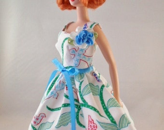 "Vintage Barbie/Silkstone/Integrity Handmade Fashion-""Spring Picnic"" by Hilary"