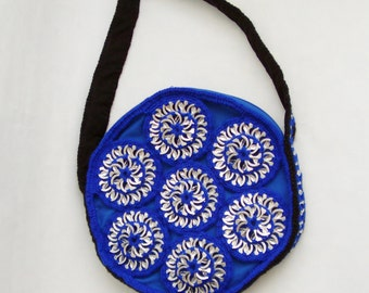 Blue Circled Pop Tab Bag