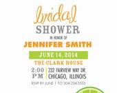 Citrus Bridal Shower Digital Invitation - Printable - Digital - Wedding - Shower