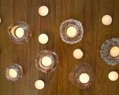 2 Available - Vintage Kosta Boda Sweden Igloo Glass Candleholder Bengt Edenfalk