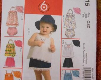 McCalls 5414 Toddlers summer dress wardrobe pattern size OSZ