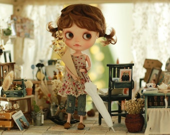 Miss yo 2015 Summer & Autumn - Mori Style Inner Dress for Blythe doll - dress / outfit - Flower