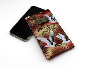 iPhone 6 Sleeve Cover Case, Customize to your phone,Cranes Red