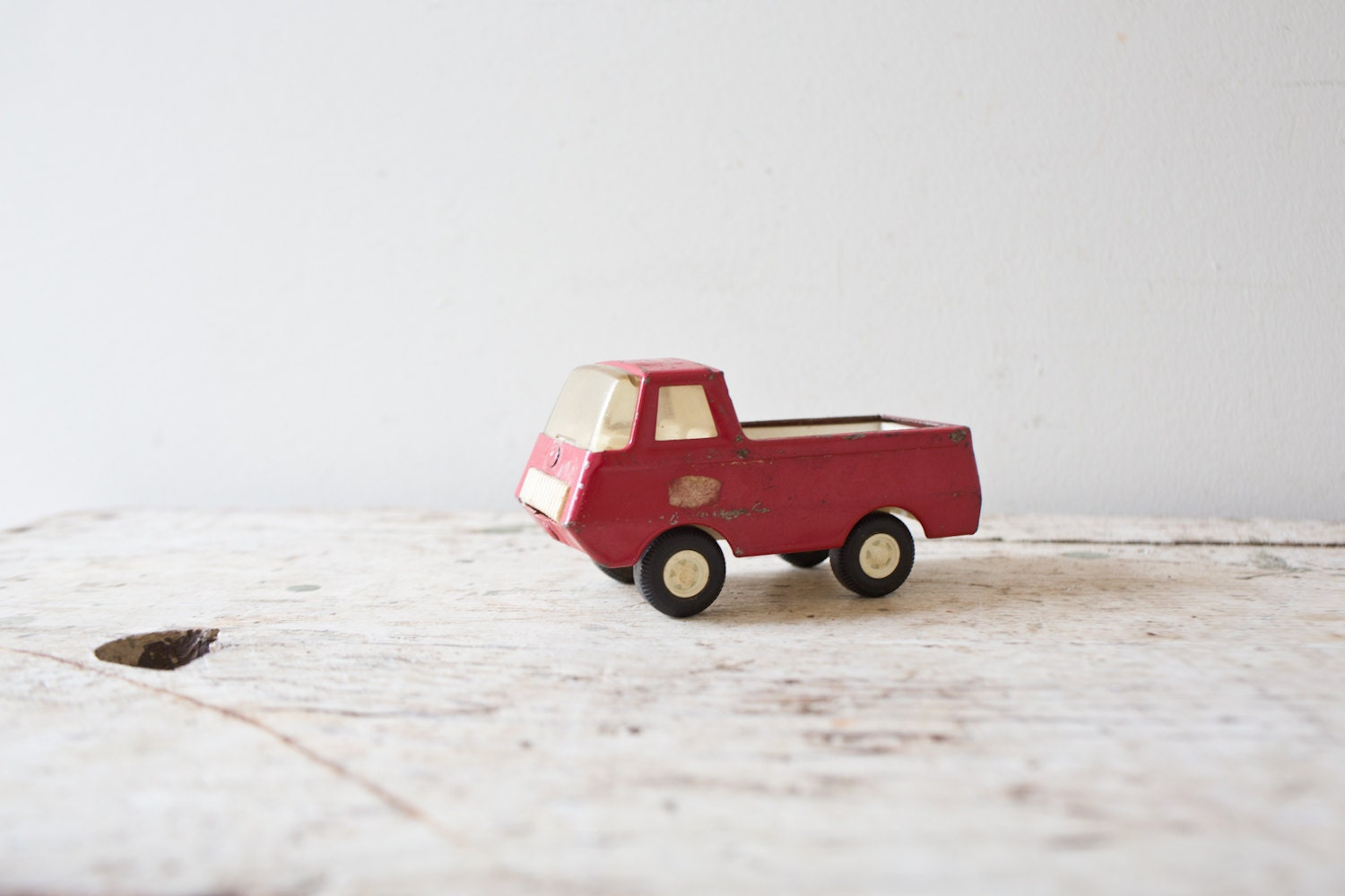 Vintage Red Toy Truck Car Red Truck Tiny Red Truck Small Toy