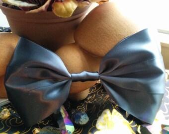 SALE Steel Grey Hair Bow. Dark Grey Hair Bow. Steel Blue Hair Bow. Metallic Hair Bow. Handmade Hair Bow. Giant Hair Bow. Big Hair Bow.
