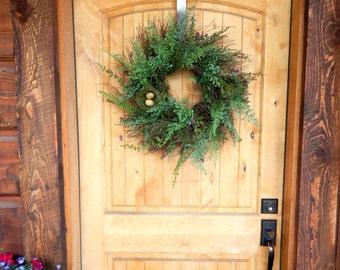Summer Wreath-Fall Wreath-Fern & Boxwood Wreath-Bird Nest Wreath-Rustic Home Decor-SCENTED Wreath-Housewarming Gift-Outdoor Wreath-Gifts