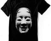 Japanese shirt Noh Mask tshirt  Ko-omote Mask  kabuki geisha -  Hand Screen printed