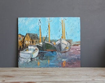 1960s Sailboat Painting