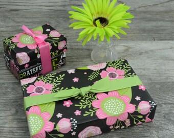 Spring Flowers Chalkboard Wrapping Paper, 2 Feet x 10 Feet
