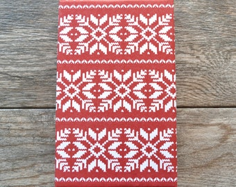Nordic Snowflake Sweater Christmas Wrapping Paper, 2 Feet x 10 Feet