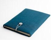 iPad Pro 9.7 case, iPad Air 2 sleeve teal, available with a pocket, dark teal, minimal