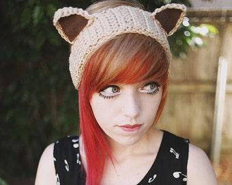 Neko - Handmade Crochet Kitty Ears Headband