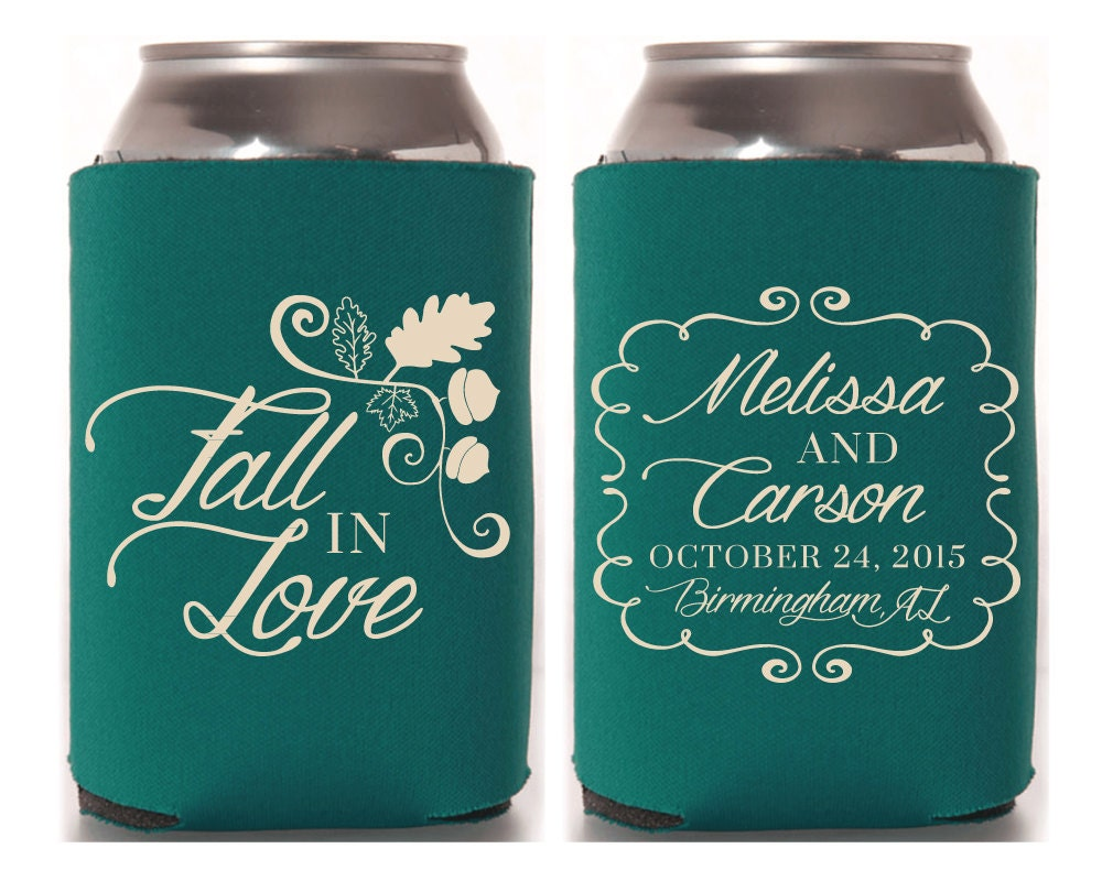 Personalized Can Coolers ~ Personalized can cooler wedding favors
