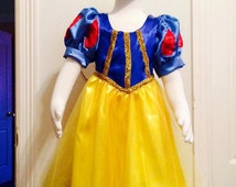 Princess Dress Up - Snow White Dress - Snow White Costume - Halloween Princess Costume - Snow White Baby Girl Dress, Disney Snow White