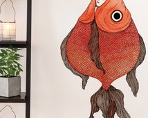 Unique Fish Wall Decal Related Items Etsy