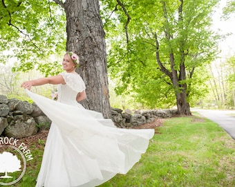 Vintage Ivory 1930s Wedding Dress/ Alternative Wedding Dress/ Sheer Romantic Vintage Wedding Gown