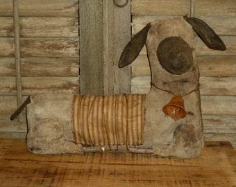 Large Primitive Sheep shelf-sitter Doll - extreme primitive sheep