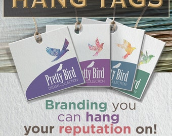 100 Clothing Hang Tags or Jewelry Tags Custom - square