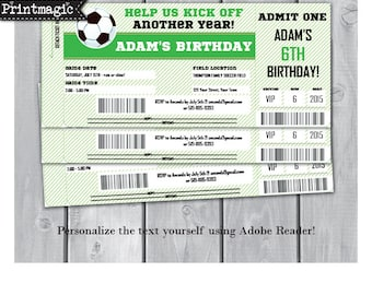 Soccer Birthday Party Invitation - Soccer Party Invitation - Soccer Invitation- Instant Download - Personalize at home in Adobe Reader