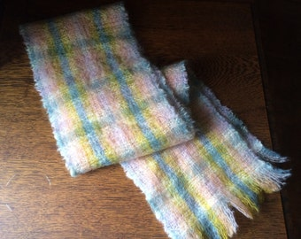 """Vintage """"Highlands"""" Mohair & Wool Made in Scotland Scarf"""