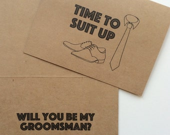Groomsmen Cards - Will you be my Groomsman / Best Man, Wedding Party Cards, Gift, Bridal Party, Ringbearer, Best Man