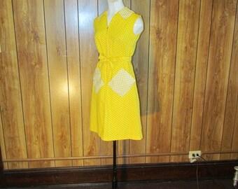 On Sale-Darling YELLOW POLKA DOT Day Dress