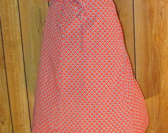 On Sale-Very Pretty FLORAL RED WRAP Skirt