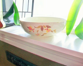 Autumn Leaf Bowl Hall China Jewel Tea Vintage 1950s Serving Bowl